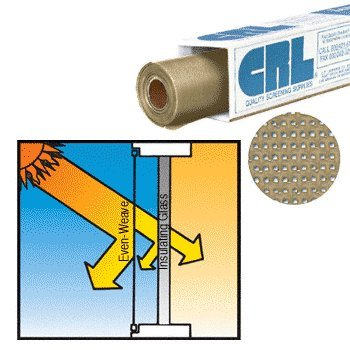 CRL 48'' x 100 ft Stucco Even-Weave Solar Screen Wire - Roll by CR Laurence