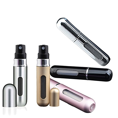 Vaporizador de perfume (Mini de viaje 5ml Portable vacía aerosol Botella, 5Pack