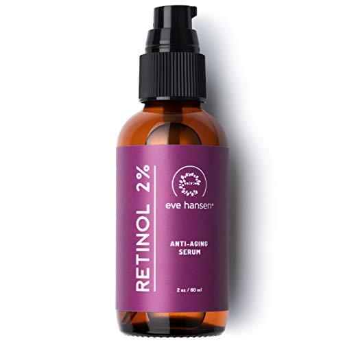 Eve Hansen Retinol Serum for Face 2% | (2oz) Facelift in a Bottle Wrinkle Filler Pore Minimizer Anti Aging Serum | Organic Retinol Anti Wrinkle Serum, Vitamin A Serum, Hyaluronic Acid ()