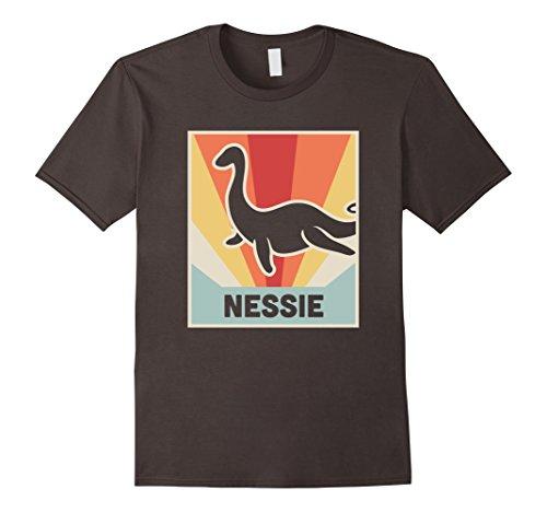Mens Retro Loch Ness Monster T Shirt Medium Asphalt