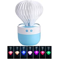 TACY Mini Humidifier 7 Color Night Light Ball Cactus Humidifiers USB Humidifier for Car Home Sleep, Bedroom, Office Desktop, Christmas Gift (Blue)