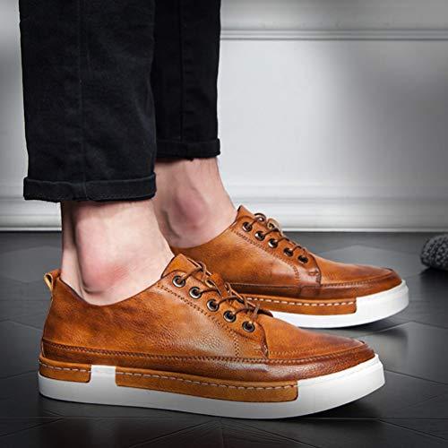 Mocassini Arancione Moda Mens Scarpe Casual Comodo Scarpe Uomo q0XUXwrE