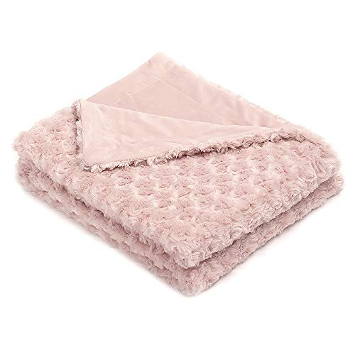 (Simple&Opulence Super Soft Microfiber Stereo Rose Pattern Home Furnishing Throw Blanket 50''×60''(Pink))