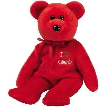 Ty Beanie Babies I Love Canada - Bear (Canada Exclusive)