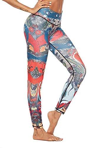 Vshiaifen ヨガウェア ヨガ レギンス ヨガパンツ ウエア 柄レギンス 冬 スポーツパンツ スポーツウェア 着圧レギンス ヨガスパッツ フィットネス フィットネスウェア レディース ストレッチ パンツ おしゃれ (Color : A, Size : XL)
