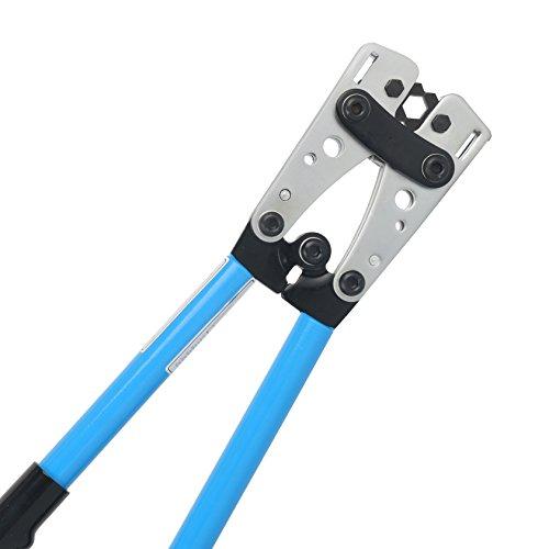 Yaetek Cable Crimper Cable Lug Crimping Tool Wire Crimper Hand Ratchet Terminal Crimp Pliers Wire Terminal Crimping Tool 6-50mm² Cable Lug Crimper Cu/Al Terminal for 10, 8, 4, 2, 1/0 AWG Wire Cable by YaeTek (Image #9)