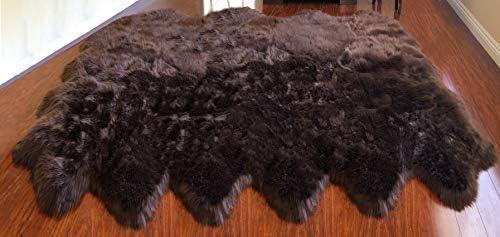 LAMBZY Genuine Sheepskin Silky Area Rug