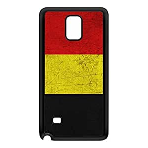Old Grunge Metal Flag of Belgium - Belgian Flag - Vlag van Belgie Black Silicon Rubber Case for Galaxy Note 4 by UltraFlags + FREE Crystal Clear Screen Protector