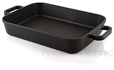 Mabel Home Cast iron Rectangular Roaster, 5.3 Quart + with 2 Gloves