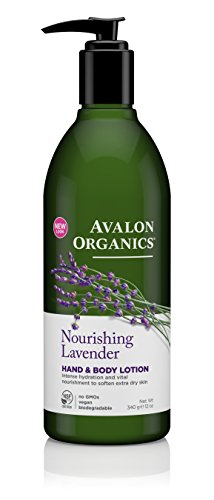 Avalon Organics Hand & Body Lotion, Nourishing Lavender, 12 Ounce
