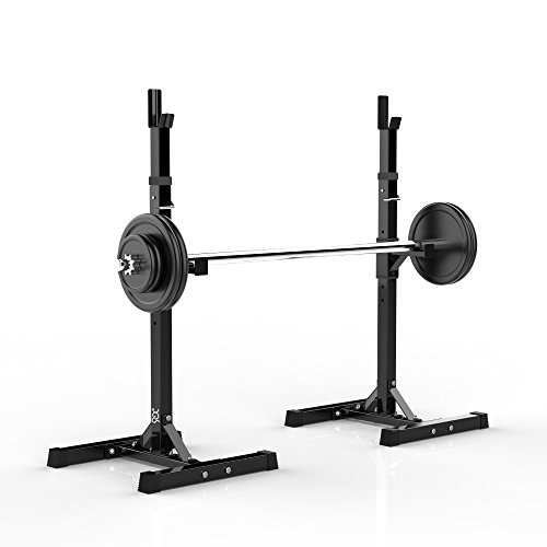 2pcs Adjustable Squat Rack Barbell Rack, Heavy Duty and Anti-skid Design price