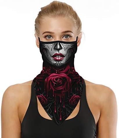 Multi-functioal Face Mask Scarf Neck Gaiter Bandana Mouth Cover Men Women Clowns