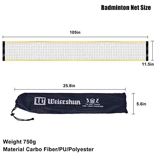 ShaggyDogz Portable Badminton Net with Stand Carry Bag Foldable Volleyball Tenn
