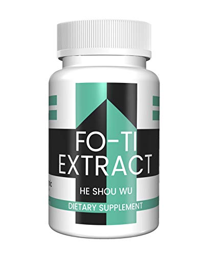 Fo-Ti Extract Capsules (100 Capsules, 450 mg per serving) (1 Capsule/Serving) by Pure Organic Ingredients, All-Natural, Non-GMO, Gluten-Free, For Healthier Hair, Skin and Nails, Immune System Boosting