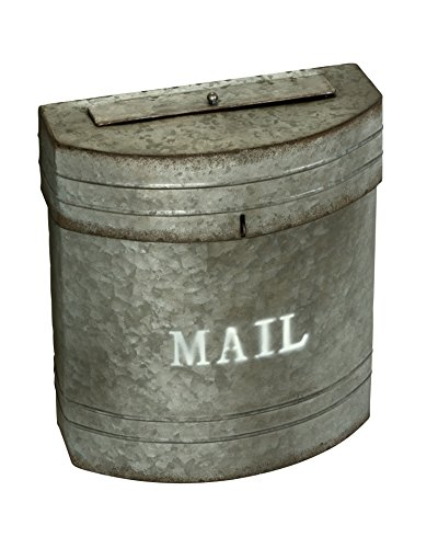 AdirHome Steel Sandy Grey Galvanized Pail Mailbox