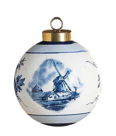 Delft Ball Christmas Ornament - Delft Blue Windmill Shopping Results