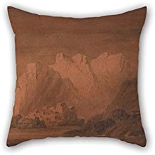 Oil Painting Mary Harcourt - On The Rhone Throw Cushion Covers 18 X 18 Inches / 45 By 45 Cm Gift Or Decor For Wedding Play Room Him Husband Home Teens Boys - Both Sides