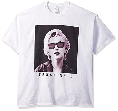 Marilyn Monroe Men's Marilyn Trust No 1 T-Shirt, White, L