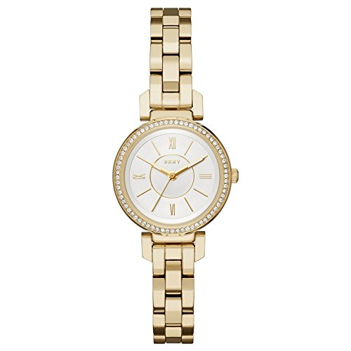 DKNY Ellington Silver Dial Ladies Gold Tone Watch NY2634