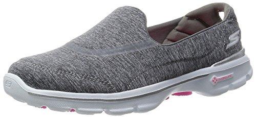 Skechers Rendimiento Go Walk 3 Reinicio Caminar Resbalón-en el zapato Heathered Gray