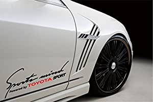 Sports Mind Powered By Toyota Sport Racing Decal Sticker BLACK/RED