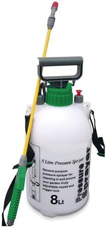 Pulverizador de jardín a presión con botella de productos químicos antialgas, para mochila: Amazon.es: Jardín