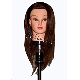 Bellrino 20-22″ Cosmetology Mannequin Manikin Training Head with Human Hair – Helen