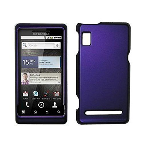 A955 Snap (Purple Rubberized Hard Cover Crystal Case for Motorola Droid 2 A955 [Accessory Export Packaging])