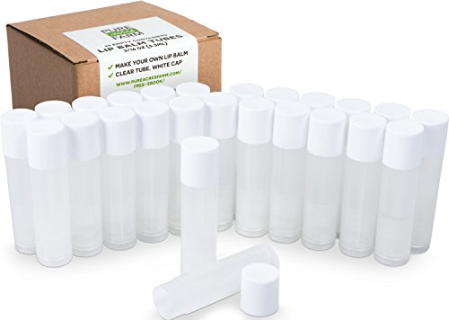 25 Lip Balm Containers - Empty Tubes - Make Your Own Lip Balm - 3/16 Oz (5.5ml) - Color: Natural Clear (Translucent)