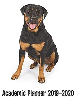 Academic Planner 2019 - 2020: Rottweiler Dog Planner - Cute ...
