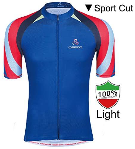 Ceroti Custom Apparel Service Men's Cool Summer Cycling Jersey, Bike Jersey UPF50+ (Cycling Custom Jersey)