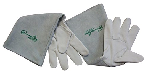 Rose Pruning Gloves for Men and Women. Thorn Proof Goatskin Leather Gardening Gloves with Long Cowhide Gauntlet to...