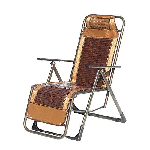 Axdwfd Lounge Chair Office Nap Chair Summer Mat Bamboo Lounge Chair Portable Recliner Beach Chair and Folding Reclining Chairs Lounger Deck Chairs & Zero Gravity Chair