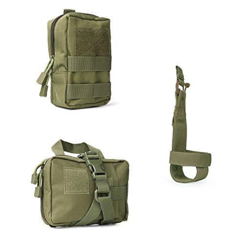 Tactical Molle Pouches Multi-Purpose EDC Military Nylon Waist Pack Utility Bag Detachable Patches/Pouches For Dog Vest Harness (Bottle Vest)