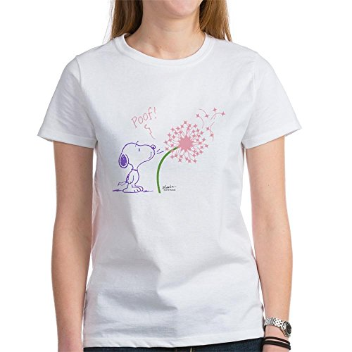 Ladies CafePress Snoopy Dandelion T-shirt. S to XXL