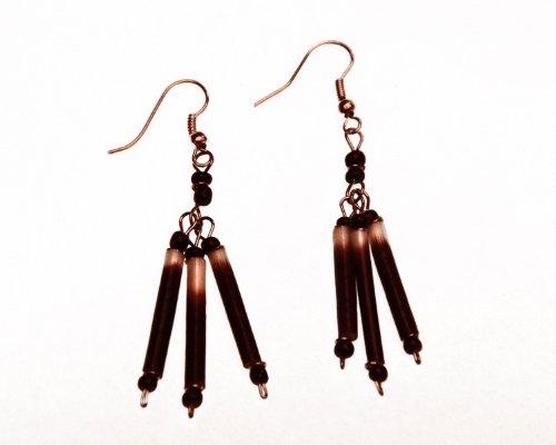 Fair Trade Porcupine Quill Earrings, Kenya, Africa, Handmade, by Global Handmade Hope