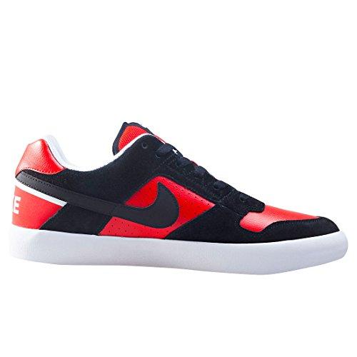 NIKE Herren SB Delta Force Vulc Skate Schuh Schwarz Schwarz Universität Rot Wht