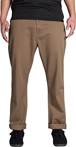 (KR3W Mens Klassic Rigid Chino Pants Tobacco)