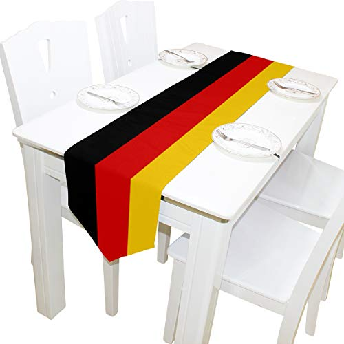 (poeticcity German Flag Double Sided Oblong 13 X 70 inches Table Runner for Wedding Dining Room Kitchen Table Cloth Home Decor)