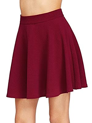 Milumia Women's Zip Back Textured Skater Skirt