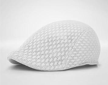 3cf15ea9dea Duck Mesh Summer Gatsby Cap Mens Ivy Hat Golf Driving Sun Flat Cabbie  Newsboy (White