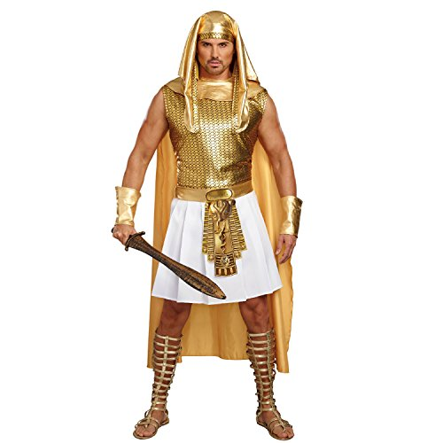 Dreamgirl Men's Ramses, Gold/White, XXL -