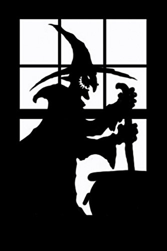 [Morbid Enterprises Scary Silhouette Witch, Black, One Size] (Scary Halloween Witches)