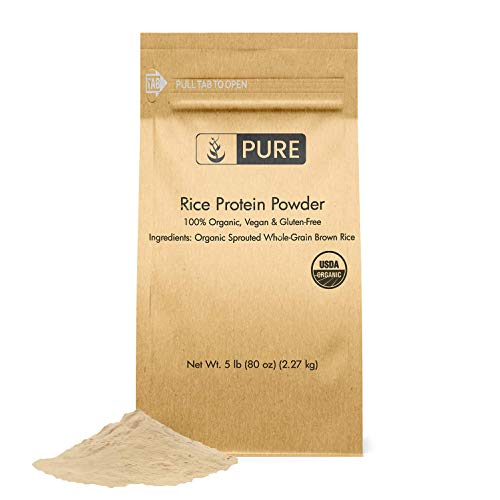 Rice Protein Powder (5 lbs) by Pure Organic Ingredients