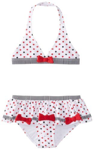 Piece Kate 2 Swimsuit Mack - Kate Mack Little Girls'  Eau So French Skirted 2 Piece Swim, Red, 6X