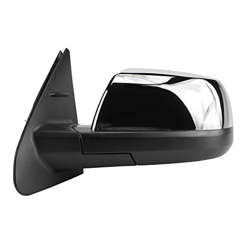 Fit System 70156T Toyota Tundra Limited Driver Side Textured Black Heated Power Replacement Mirror with Chrome ()