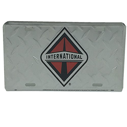 Semi Tag Diamond Plate License Plate (Diamond Hang Tag)