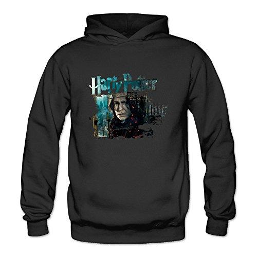 Design Hard Die Costume (TIKE Women's Harry Alan Potter Sidney Patrick Rickman Hood Sweater Color Black Size)