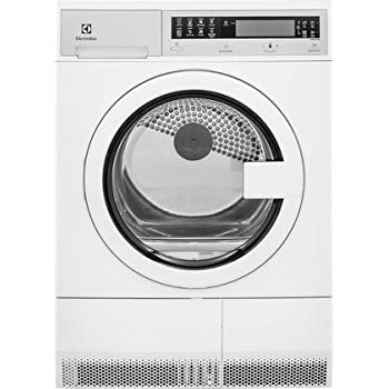 """Electrolux EIED200QSW 24"""" Compact Front Load Electric Dryer with 4.0 cu. ft. Capacity Stainless Steel Tub 7 Drying Cycles 4 Temperature Settings Delay Start Reversible Door and LED"""