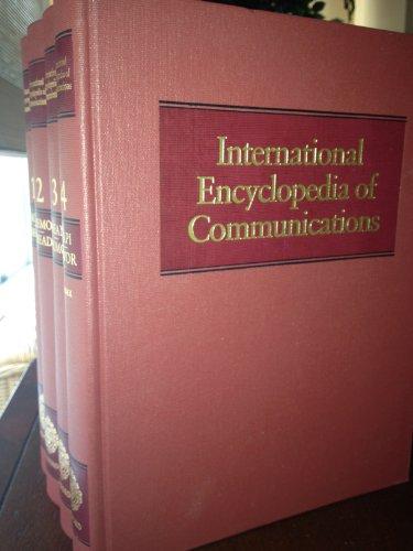 International Encyclopedia of Communications: 4 Volumes
